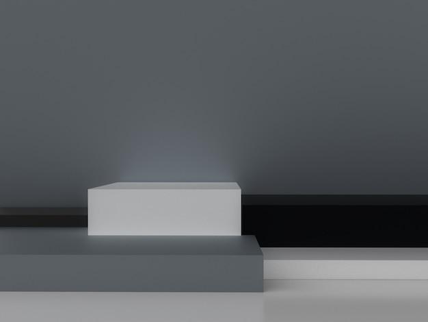Representación 3d minimalista forma geométrica abstracta.
