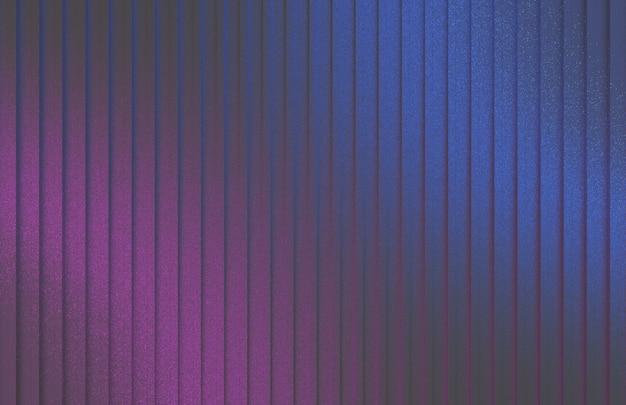 Representación 3d moderno y lujoso luz ultravioleta azul púrpura en la pared de plata.