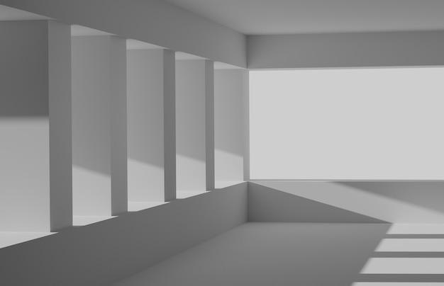 Representación 3d de papel tapiz abstracto con formas geométricas. arquitectura futurista.