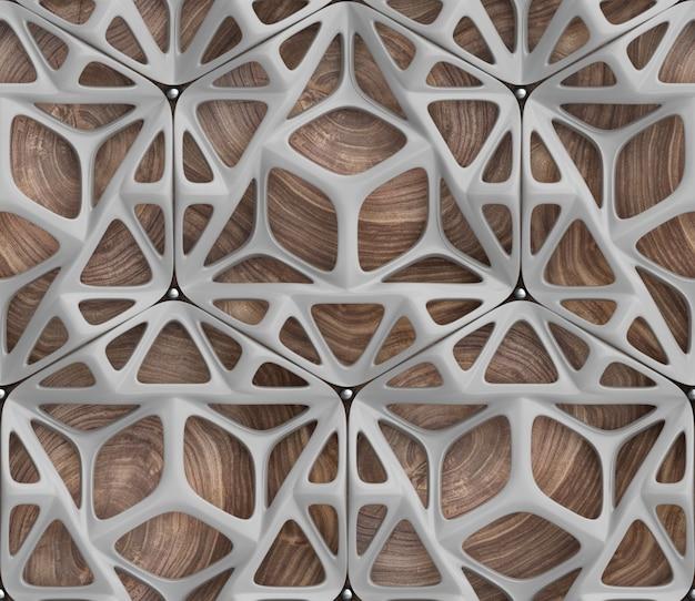 Representación 3d de un patrón abstracto
