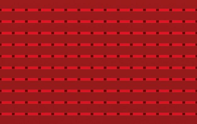 Representación 3d seamless matalic moderno cuadrado rojo forma patrón azulejos pared diseño textura fondo.