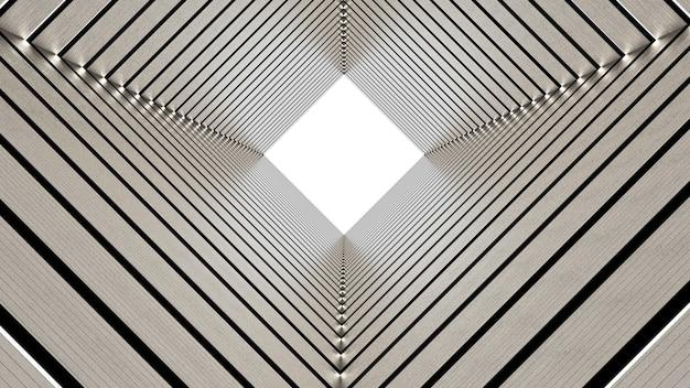 Representación 3d del túnel rectangular abstracto