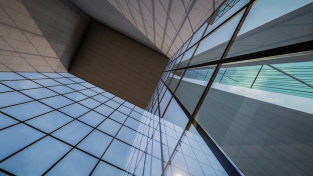 Representación 3d de visualización de estructuras de edificios