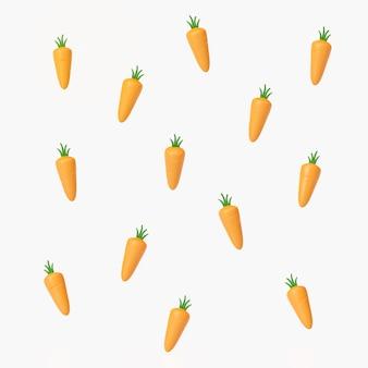 Representación 3d de zanahorias