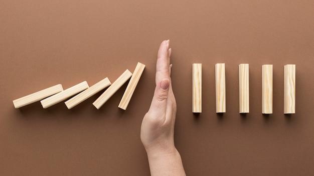Representación abstracta de la crisis financiera