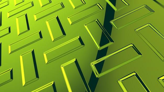 Representación abstracta del fondo 3d del vidrio verde