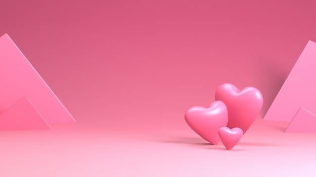 Representación del corazón en el día de san valentín