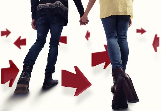 Representación de direcciones para el futuro de una pareja