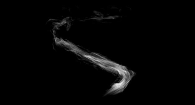 Representación del diseño del fx del juego del rastro del humo en fondo negro