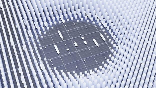 Representación futurista del ejemplo 3d del fondo de la tecnología