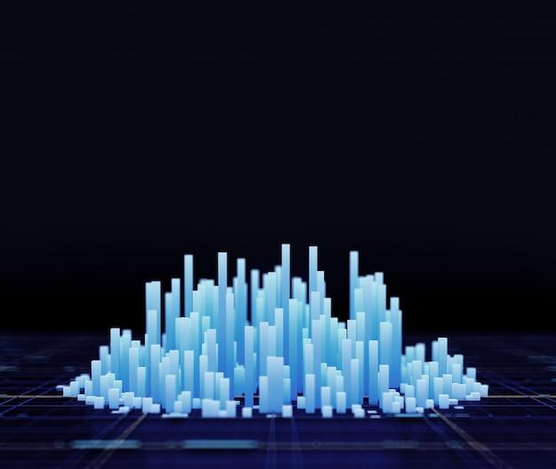Representación de la ilustración 3d del fondo de la ciudad