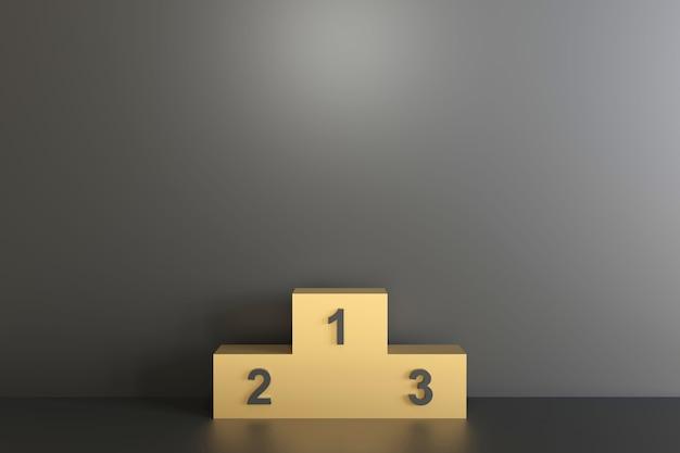 Representación de representación 3d de escena de podio geométrica. estilo minimalista y futurista.