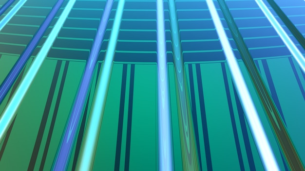 Representación verde abstracta del fondo 3d
