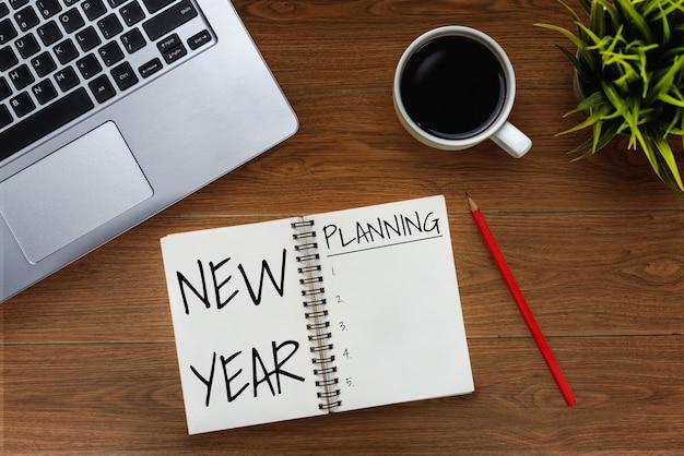 Resolución de año nuevo lista de objetivos configuración de objetivos