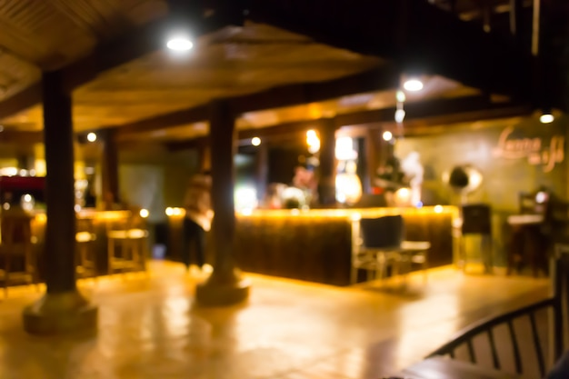 Restaurante desenfoque de fondo con bokeh. resumen de café desenfocado.