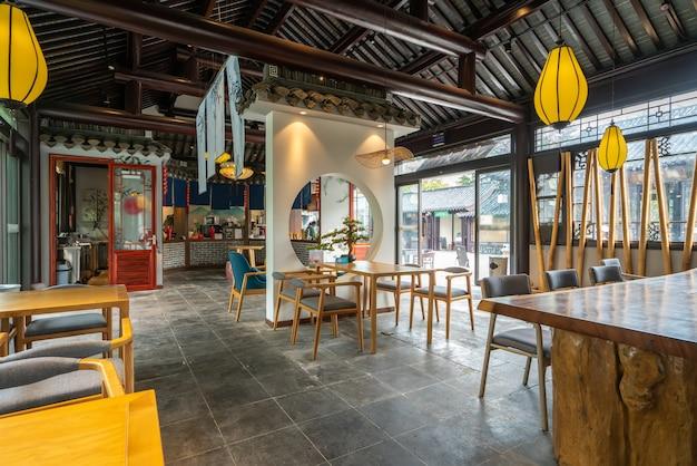 Restaurante de estilo arquitectónico clásico chino casa de té.