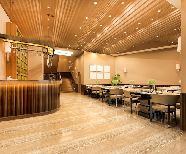 Restaurante loft y cafetería lounge de lujo