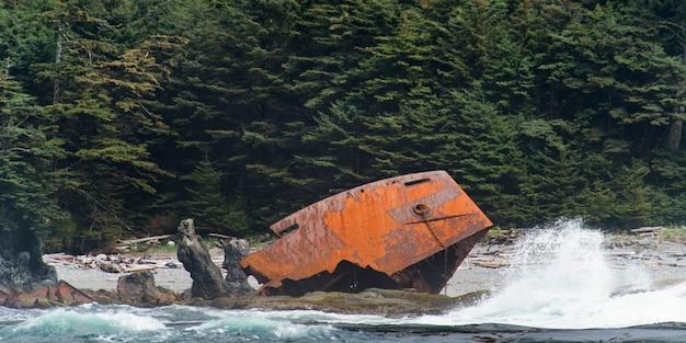 Los restos fueron arrojados a la costa, el distrito regional de skeena-queen charlotte, haida gwaii, graham islan