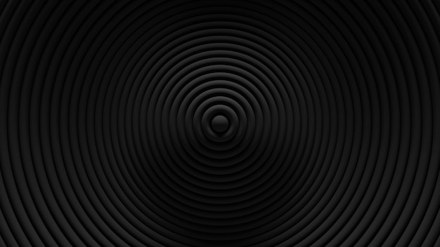 Resumen antecedentes de oscilación de persianas circulares. . superficie ondulada de anillos 3d. desplazamiento de elementos geométricos.