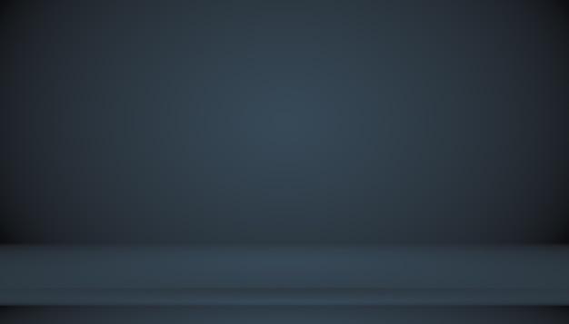 Resumen azul oscuro liso con viñeta negra studio bien se usa como fondo, informe comercial, digital, plantilla de sitio web, telón de fondo.