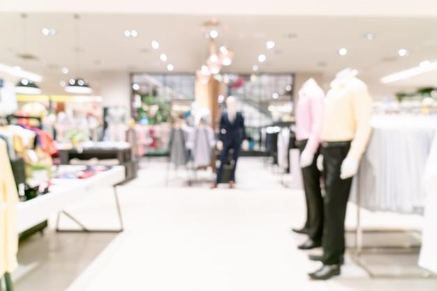 Resumen blur centro comercial o tienda por departamentos interior