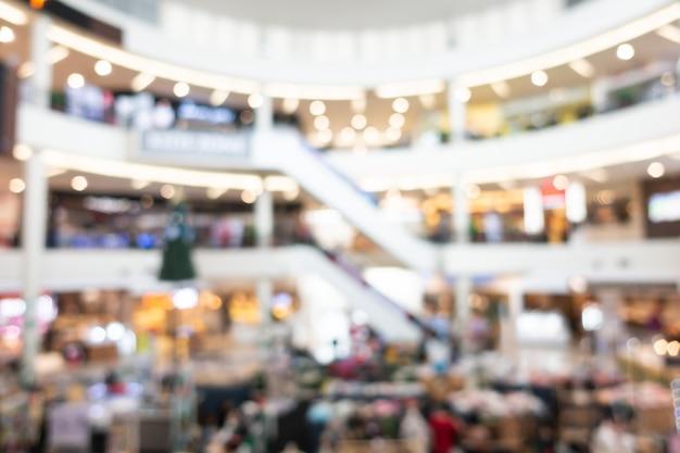 Resumen blur interior del centro comercial de grandes almacenes
