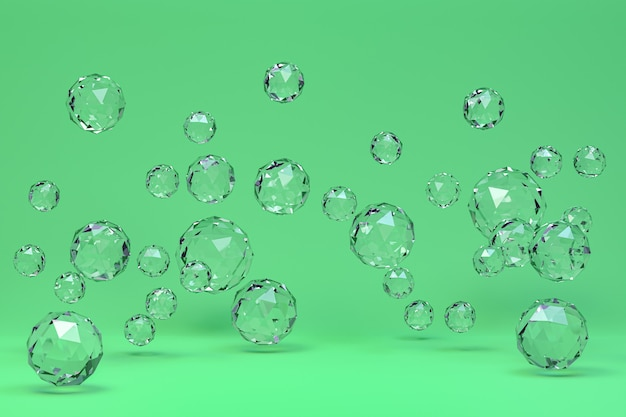 Resumen de bola de cristal en verde