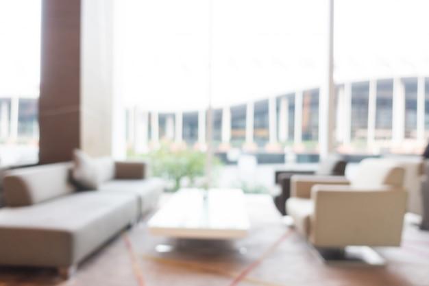 Resumen borrosa hotel interior