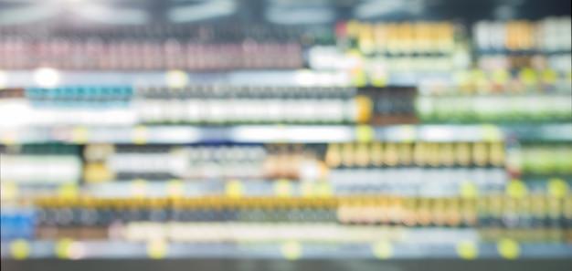 Resumen borrosa supermercado, concepto de estilo de vida urbano. dof superficial