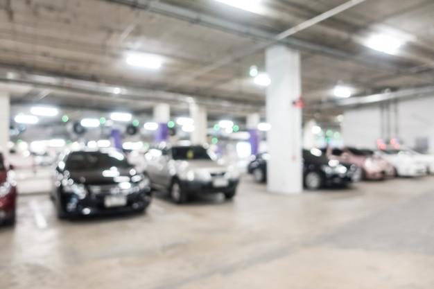 Resumen borroso aparcamiento de coches