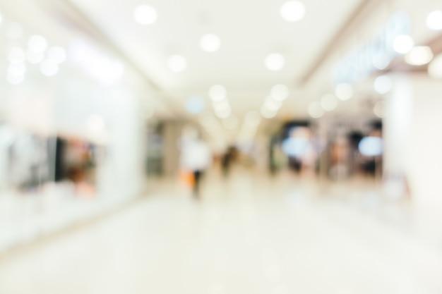Resumen borroso y centro comercial defocused