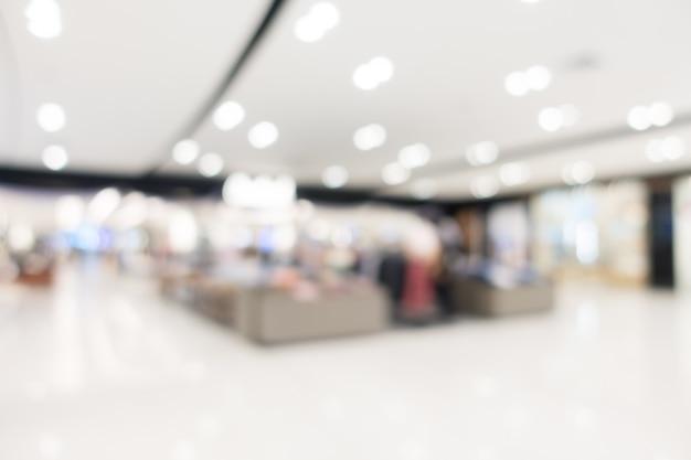 Resumen borroso centro comercial y tienda al por menor