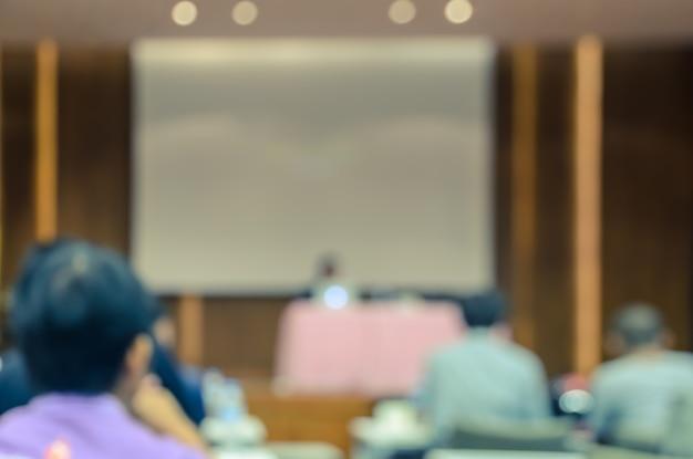 Resumen borroso conferencia o sala de seminario