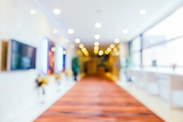 Resumen borroso y defocused hotel y lobby interior