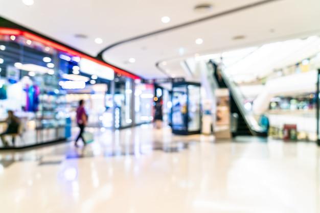 Resumen borroso y desenfocado centro comercial de lujo y tienda minorista