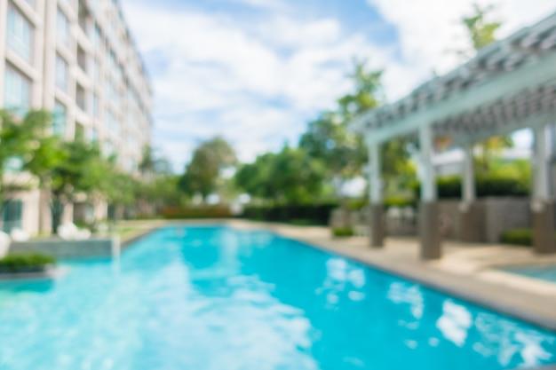 Resumen borroso y desenfoque de piscina