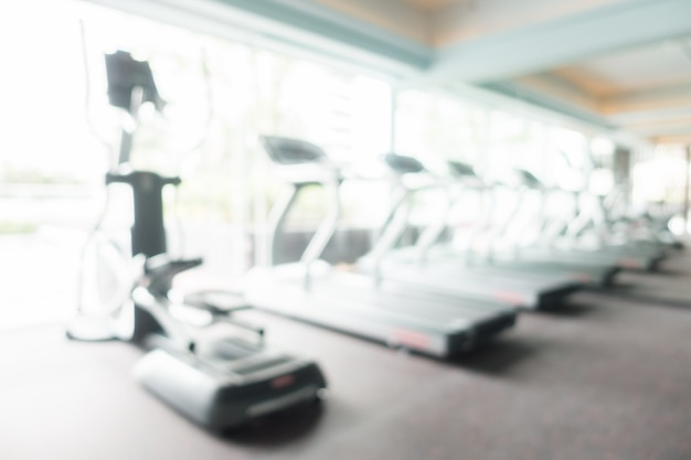 Resumen borroso gimnasio y sala de fitness
