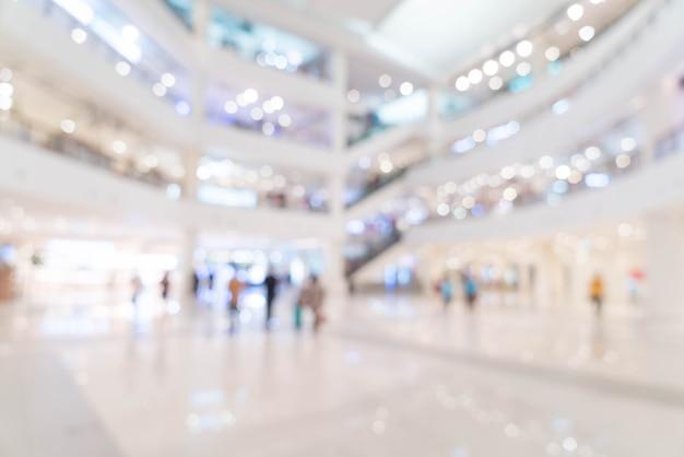 Resumen borroso hermoso centro comercial de lujo centro y tienda tienda minorista
