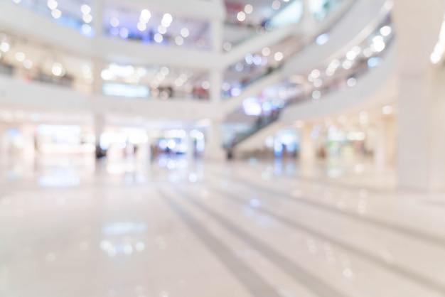 Resumen borroso hermoso centro comercial de lujo centro