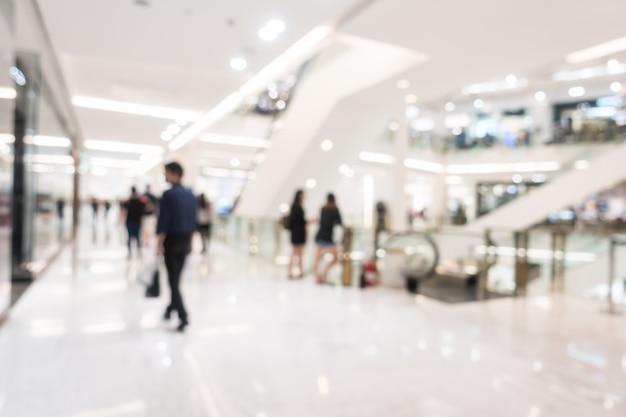 Resumen borroso hermoso centro comercial de lujo y tiendas minoristas