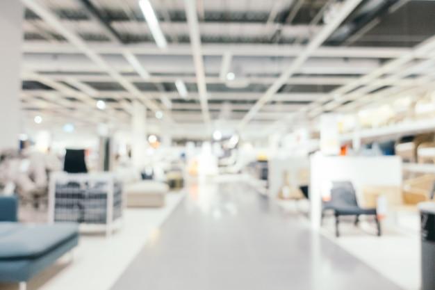 Resumen borroso muebles decoración y almacén de tienda
