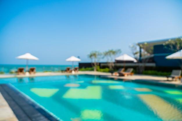Resumen borroso piscina al aire libre