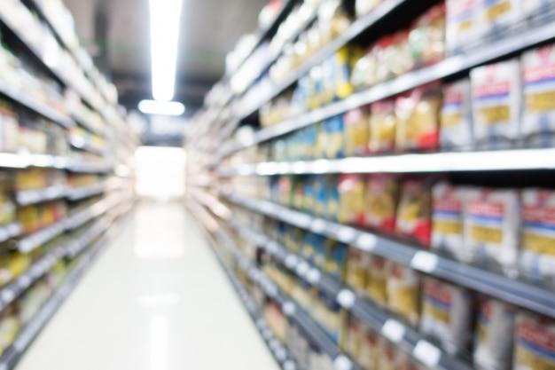 Resumen borroso supermercado en grandes almacenes