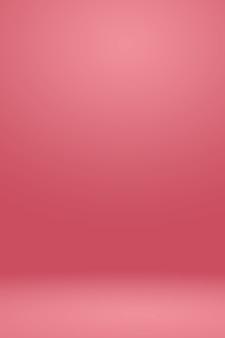 Resumen de color rosa claro fondo rojo diseño de diseño de navidad y san valentín, estudio, habitación, plantilla web, informe de negocios con color gradiente de círculo suave.