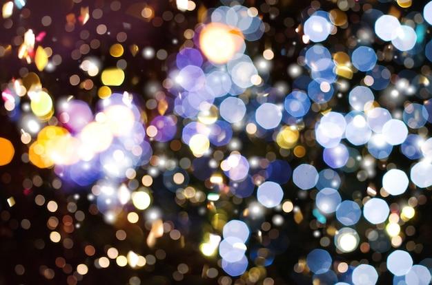 Resumen colorido desenfoque bokeh luces