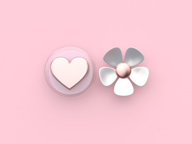 Resumen corazón flor rosa fondo