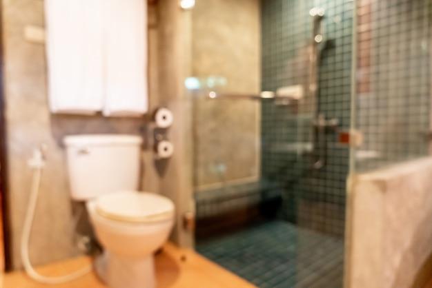 Resumen desenfoque de baño y aseo interior
