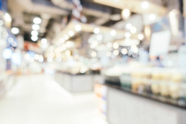 Resumen desenfoque y bokeh defocused centro comercial interior de los grandes almacenes