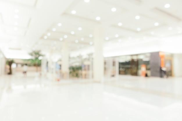 Resumen de desenfoque y defocused lujoso centro comercial de tiendas por departamentos interior de fondo