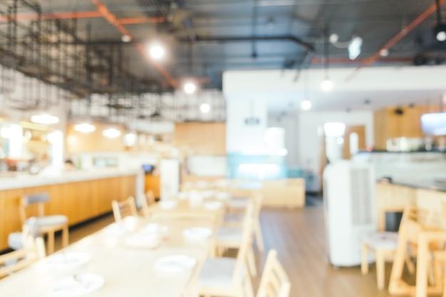 Resumen de desenfoque y defocused restaurante y café